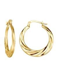 Øreringer i gull 375