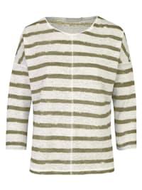 "Veganes Streifenshirt Modell ""Iris"" aus Leinen"