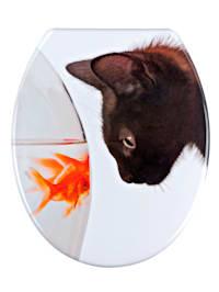 Toiletbril Fish and Cat