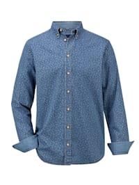 Skjorta i denimmaterial