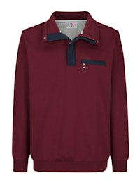 Sweatshirt mit aufwendigen Kontrastdetails