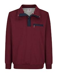 Sweatshirt met hoogwaardige contrasterende details