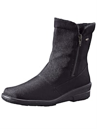 Ankle boots made from water-resistant fabric