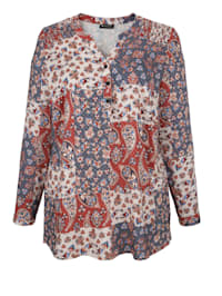 Bluse mit Mustermix