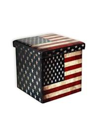 Sitzhocker Flagge America