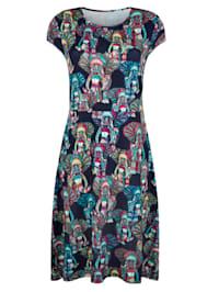 Jerseykleid mit Elefanten-Druck