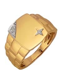 Chevalière avec diamants