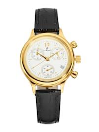 Damenuhr-Chronograph in Gelbgold 585