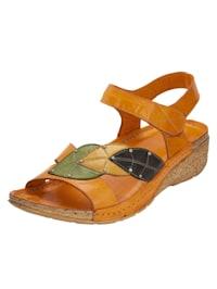 Sandaletter med bladapplikationer