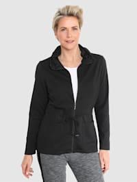 Tričkový kabátek s rafinovaným límcem