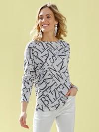 Pullover mit grafischem Muster allover