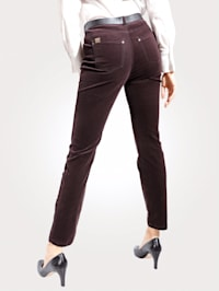 Trousers made from soft corduroy