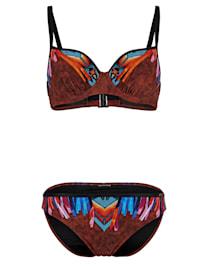 Bikini à motif imprimé