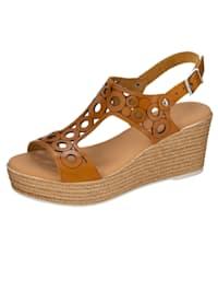 Sandaletter i somrigt luftig modell