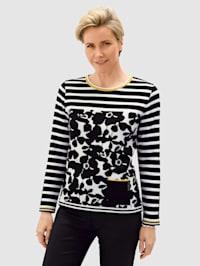 Tričko s grafickým žakárovým vzorem