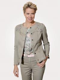 Denim jacket with chic detailing