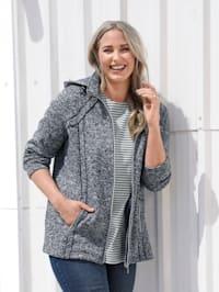 Fleecová bunda s kapucí