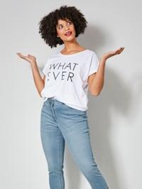 Shirt met trendy statementprint