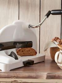 Brotschneidemaschine mit Handkurbel