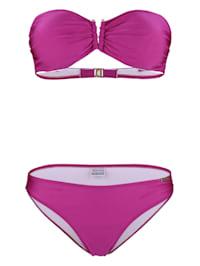 Bikini van licht glanzend materiaal