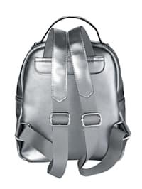 Ryggsäck med metallicglans
