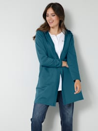 Sweat kabátik v kašírujúcom dlhom strihu