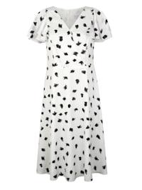 Kleid mit gepunkteten Druck