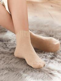 Warme sokken met merinoswol en kasjmier per 2 paar