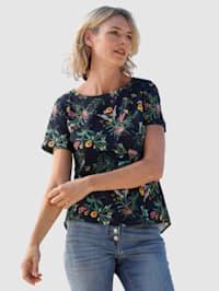 Bluse mit schönem Blumendruck