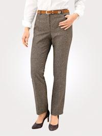 Trousers in a herringbone pattern
