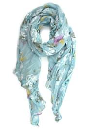 Italienischer Schal Verona mit floralem Muster