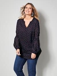 Bluse mit Minimal-Muster