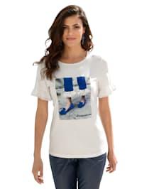Shirt mit Strassstein- und Pailletten-Verzierung