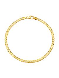 Bracelet maille chenille en or jaune