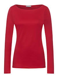 Shirt in Unifarbe