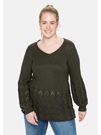 Pullover im Strickmix, in weicher Qualität