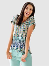 Shirt mit sommerlichem Ethnodruck