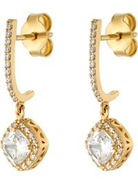 FAVS Damen-Ohrhänger 375er Gelbgold 2 Zirkonia