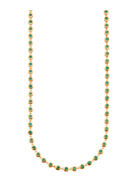 Collier met smaragden
