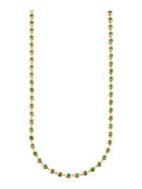 Halsband med smaragder