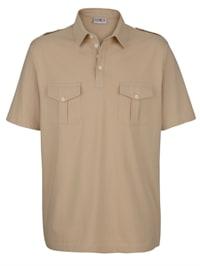 Poloshirt mit praktischen Brusttaschen