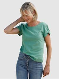 Tričko s malou príložkou na ramenách
