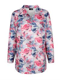 Sweatshirt med blommönster