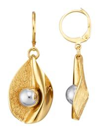 Örhängen av guldfärgat silver 925