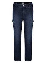 Jeans met cargozakken