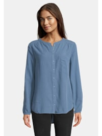 Casual-Bluse mit Knopfleiste Material