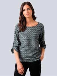 Bluse med raffinert Alba Moda mønster