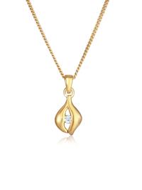 Halskette Anhänger Tropfen Diamant (0.03 Ct.) 925 Silber