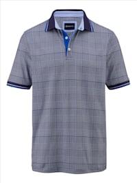 Poloshirt mit Hahnentritt Muster