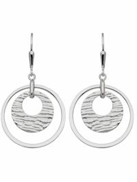 1001 Diamonds Damen Silberschmuck 925 Silber Ohrringe / Ohrhänger Ø 23,2 mm